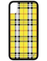Wildflower Limited Edition Cases for iPhone XR (Yellow Plaid)