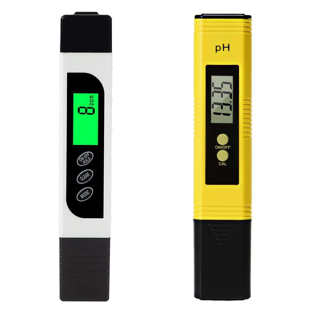 DYTesa Digital TDS Meter and PH Meter,Water Quality Tester with Auto Calibration Button,TDS PH EC Temperature 4 in 1 Set,Ideal for Household Drinking Water,Hydroponic,Aquariums,etc