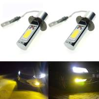 Calais Extremely Bright LED H3 COB Chips 30W Golden Yellow Color LED Fog Light Bulbs Plug-n-Play(pack of 2)
