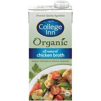 College Inn Organic All Natural Chicken Broth in Aseptic Carton, 32-Ounce (Pack of 12)