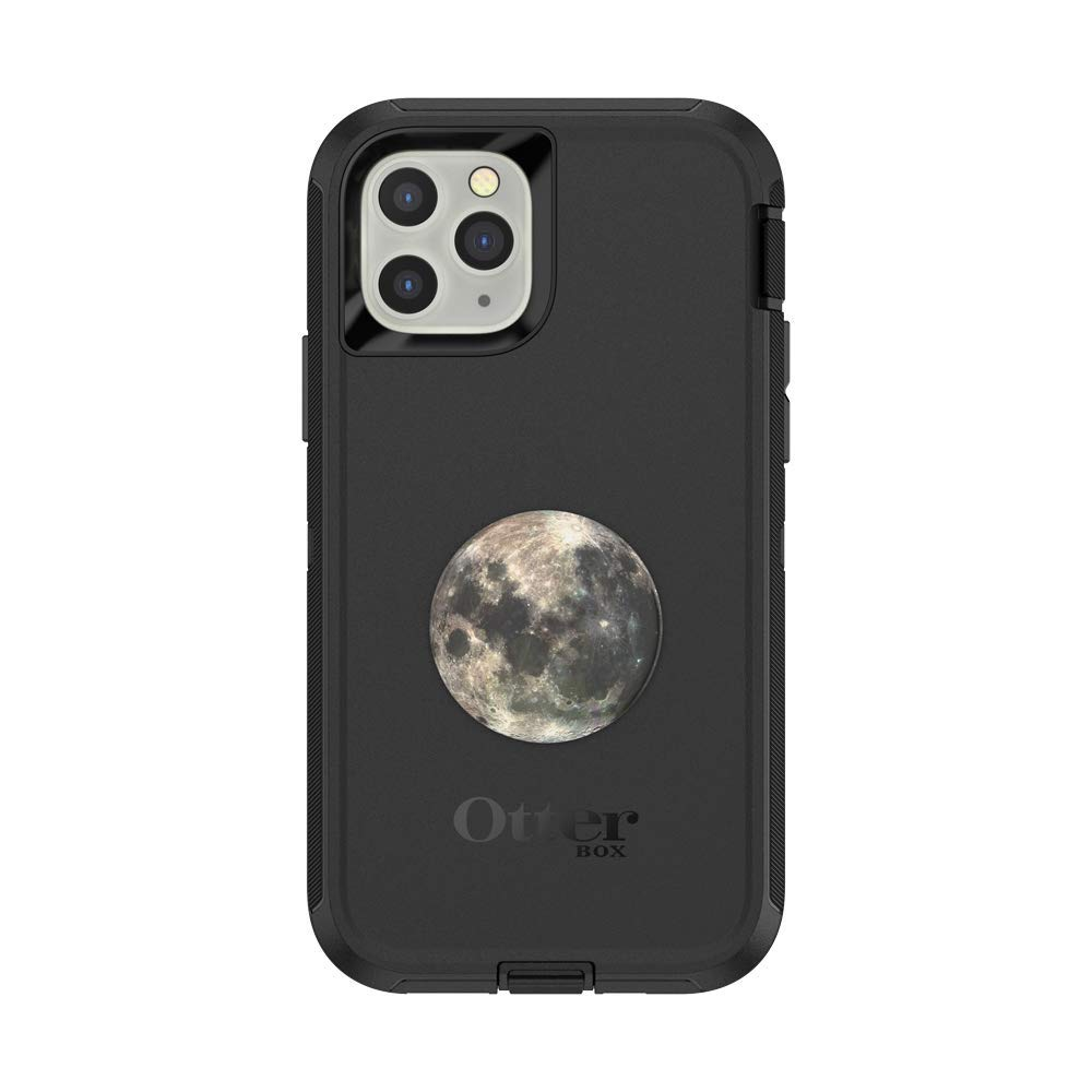 Otter + Pop for iPhone 11 Pro: OtterBox Defender Series Case with PopSockets Swappable PopTop - Black and Moon