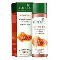BIO HONEY Gel Refreshing Foaming face Cleanser -120ml/4.05Fl.Oz. I Refreshing Moisturizing Non-Foaming Face Wash, Foaming Face Cleanser For All Skin Type I 100% Soap Free