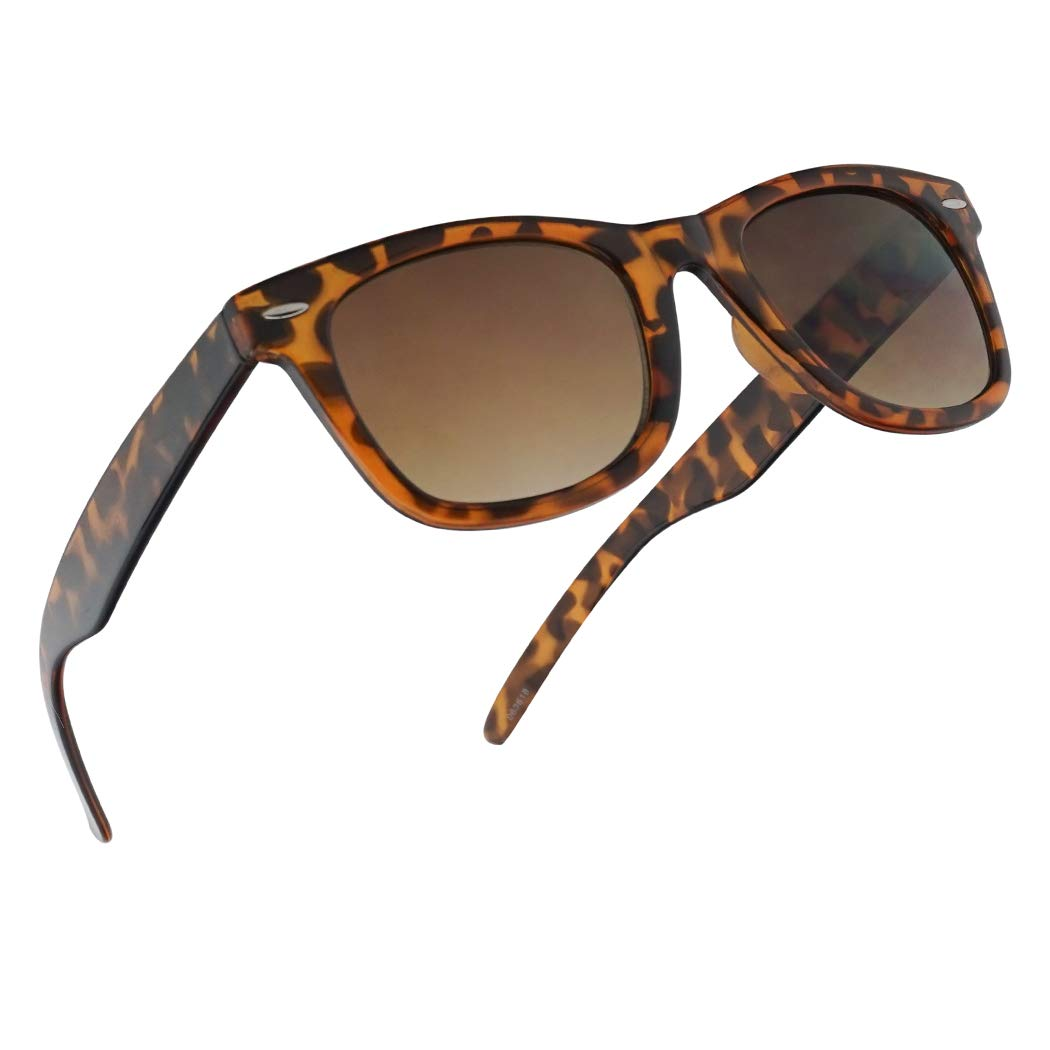 SunglassUP Multi Focus 3 in 1 Tri-Focal Reading Sunglasses Classic Square Frame Progressive Readers (Tortoise Frame, 1.75)