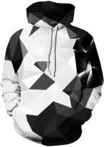 Sportides Unisex Men Women Boy Girl Realistic 3D Digital Print Pullover Hoodie Hooded Fleece Sweatshirt LBH001