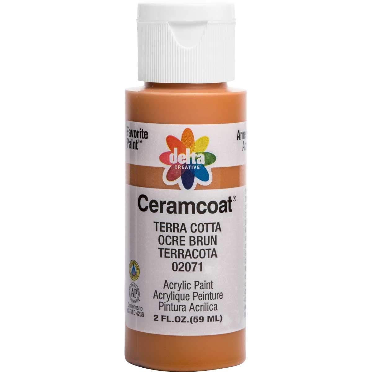 Delta Creative Ceramcoat Acrylic Paint in Assorted Colors (2 oz), 2071, Terra Cotta