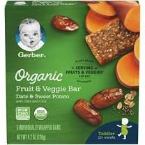 Gerber Organic Fruit & Veggie Bar Date & Sweet Potato, 4.2 oz