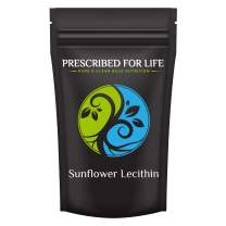 Prescribed for Life Sunflower Lecithin Powder (4 oz / 113 g)   Natural, Unbleached, Gluten Free, Vegan, Non-GMO, Soy Free, Kosher, No Fillers   Naturally Rich in Choline & Essential Fatty Acids