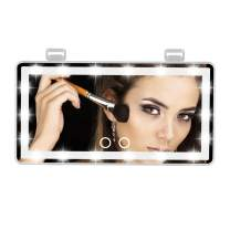 Makeup Mirror Vanity Mirror with Lights -3 Color Lighting Mode 60 LEDs Rear Car Mirror For Baby Touch Control Design High Definition Comestic Lighted Up Mirror (White)