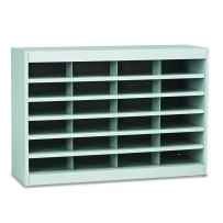 Safco Products E-Z Stor Literature Organizer, 24 Compartment, 9211GRR, Grey Powder Coat Finish, Commercial-Grade Steel Construction, Eco-Friendly