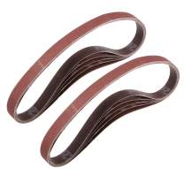 "uxcell 1/2"" x 18"" 240 Grit Sanding Belt Aluminum Oxide Sandpaper Belts for Portable Strip Sander Wood Finishing Metal Drywall Polishing Sharpening Abrasive Paper 10pcs"