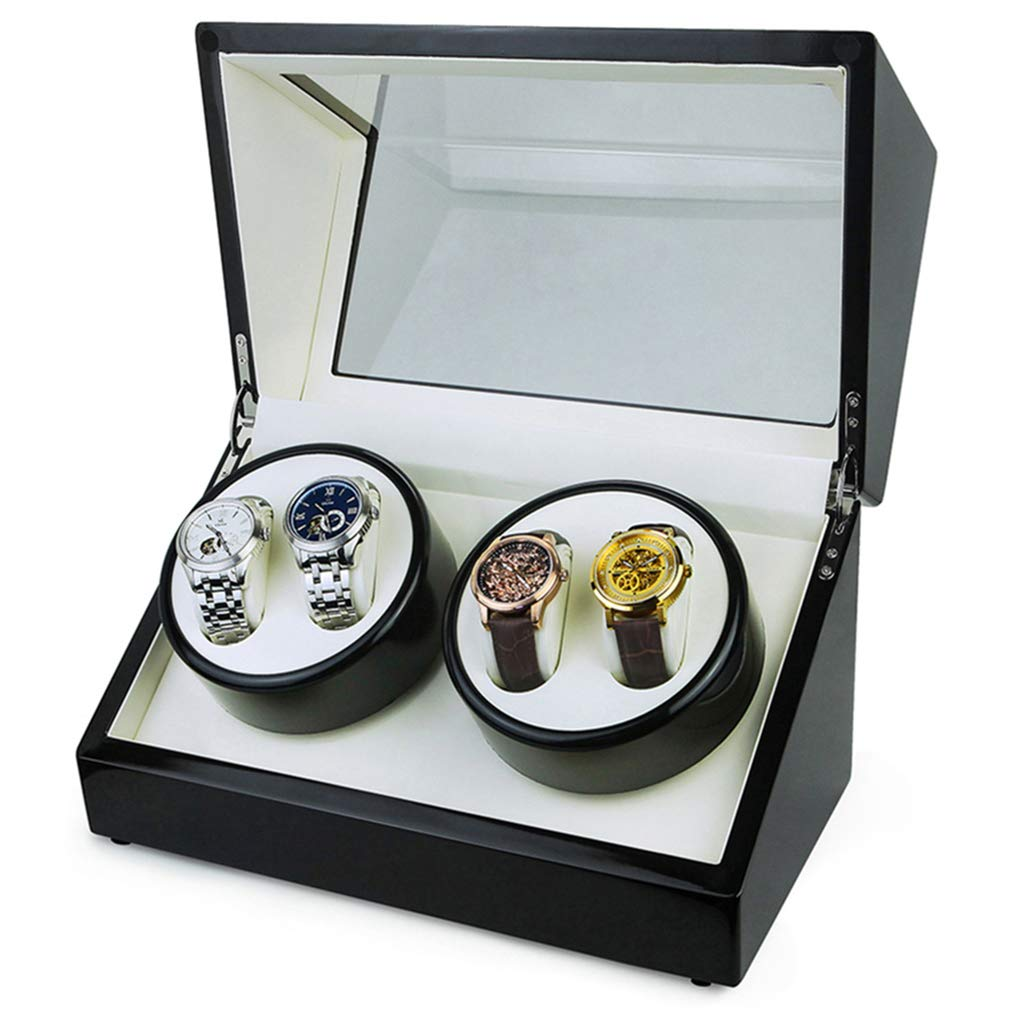 Watch Winder with Quiet Japanese Mabuchi Motor Gift for Mechanical Watches Collectors