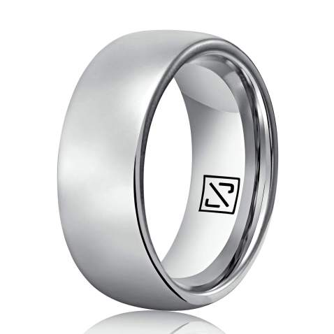 4mm 100/% Silver Titanium 2mm Mens /& Womens unisex, Engagement, Promise, Ring 6mm 8mm Comfort Fit Polished Dome Style Wedding Band