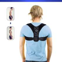 Slimerence Posture Corrector Shoulders Back Support, Adjustable Breathable Band Postural Correction for Man and Woman, Neck Pain Relief, Spinal Cord Posture Support
