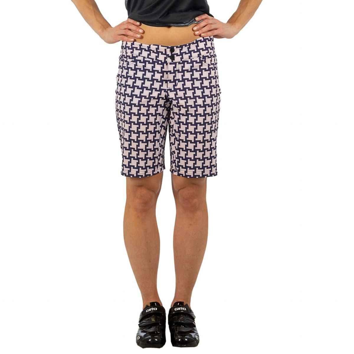 SHEBEEST Women's Skinny Americano Biking/Cycling Shorts