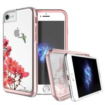 "Prodigee [Show] Blosoom for iPhone 8 (2017) - iPhone 7 (2016) & iPhone 6/6s (5.5"") Protective Case Fashionable Slim Thin Pink Hummingbird Cherry"