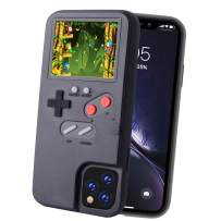 POKPOW Handheld Game Console Phone Case for iPhone 11 Case with Built in 36 Retro Games Compatible with iPhone 11 Anti-Scratch Shock Absorption Cover (P11 Black)