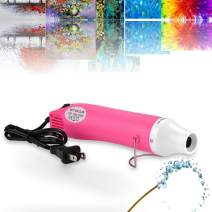 Epoxy Resin Bubble Remover, USLINSKY Bubble Buster Heat Gun with US Adapter Apply to Acrylic Painting Supplies, Quick Resin Bubble Free Tool for Crafts, Princess Pink