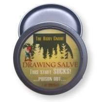 The Hairy Gnome Drawing Salve, This Stuff Sucks! Poison Out. Handmade with Organic Ingredients, 1 oz. Old Timey Plantain and Pine Tar Recipe for Infections, Splinters, and Boils. (3) (2)