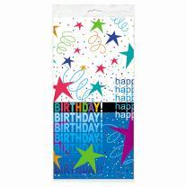 """Cosmic Birthday Plastic Tablecloth, 84"""" x 54"""""""