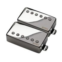 EMG 57/66 Bridge and Neck Humbucker Guitar Pickups Set, Chrome