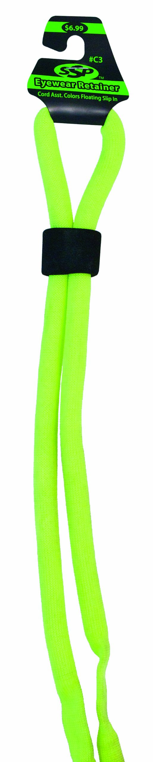 SSP Eyewear Floating Eyewear Retainer Cord, Yellow, CORD3 YLW
