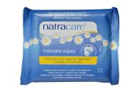 Natracare Organic Cotton Intimate Wipes, 12Count