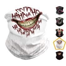 Seamless Bandanas Skull Head Face Mask - Women & Men Neck Gaiter Face Mask for Dust, Outdoors, Festivals, Sports