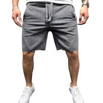 LONGBIDA Men's Running Shorts Loose Fit Lightweight Quick Dry Training Short Pants