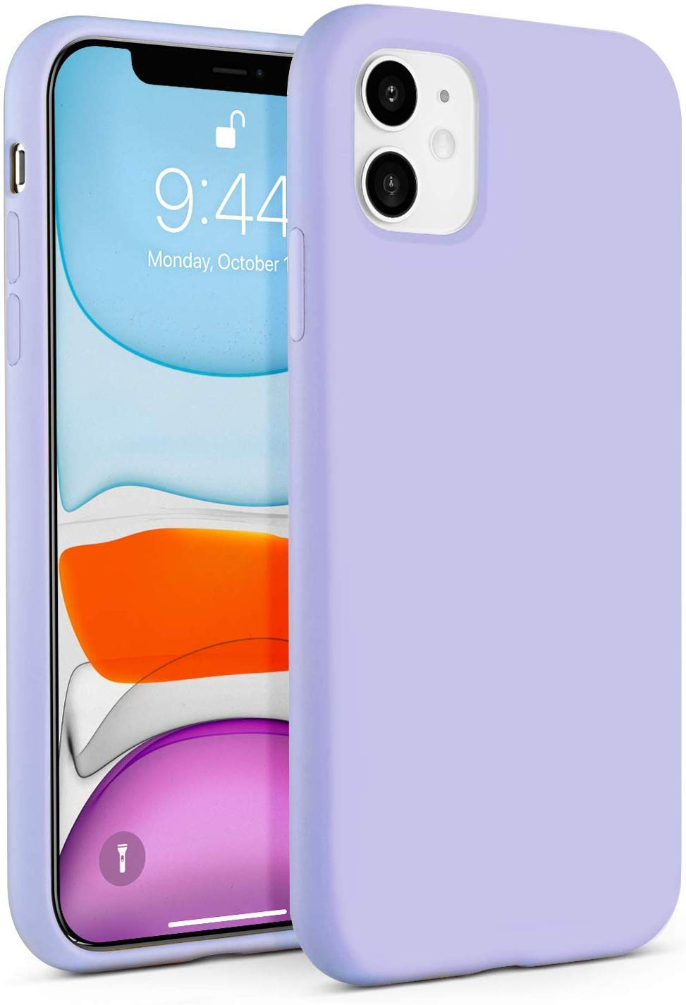"IceSword iPhone 11 Case, Purple iPhone 11 Silicone Case, Gel Rubber Full Body, iPhone 11 Cute iPhone 11 case, Soft Microfiber Cloth, 6.1"" iPhone 11 case Silicone, iPhone 11 case Cute - Purple"