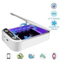 Cell Phone Cleaner, Portable Light Sterilizer, Disinfector Cell Phone Cleaners with USB Charging, Light Cleaner Box for Watch Toothbrush Jewelry