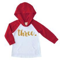 Bump and Beyond Designs Third Birthday Girl Shirt Three Year Old Birthday Girl Hoodie