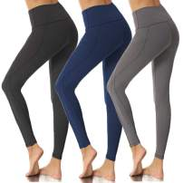 High Waist Yoga Pants with Pockets for Women,Workout Yoga Leggings Tummy Control Running,4 Way Stretch-No See Through