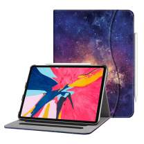 """Fintie Case for iPad Pro 11"""" 2018 [Supports 2nd Gen Pencil Charging Mode] - Multi Angle Viewing Folio Cover with Pocket [Secure Pencil Holder] Auto Sleep/Wake for iPad Pro 11 2018, Galaxy"""
