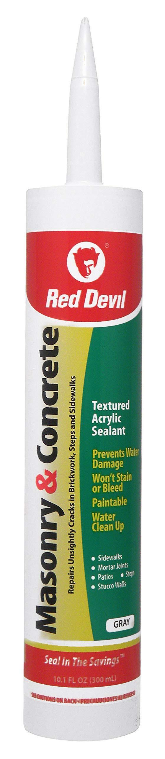 Red Devil 0646 Gray 10.1 Oz Cartridge Masonry and Concrete Acrylic Sealant Repair, 1 Pack