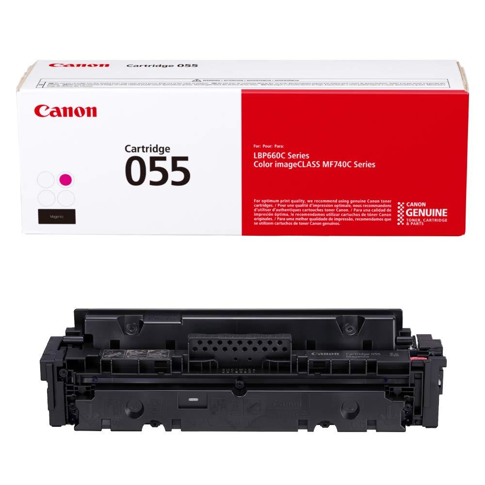 Canon Genuine Toner, Cartridge 055 Magenta (3014C001) 1 Pack, for Canon Color imageCLASS MF741Cdw, MF743Cdw, MF745Cdw,MF746Cdw, LBP664Cdw Laser Printers