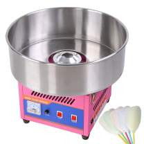 "20"" Pink Tabletop Commercial Cotton Candy Machine GEN3 Electric Floss Maker Carnival"