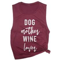 Spunky Pineapple Dog Mother Wine Lover Funny Drinking Dog Mom Workout Muscle Tee