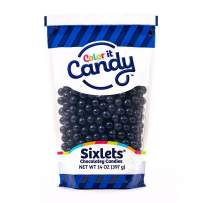 Color It Candy Navy Blue Sixlets 14 Oz Peg Bag - Perfect For Table Centerpieces, Weddings, Birthdays, Candy Buffets, & Party Favors.