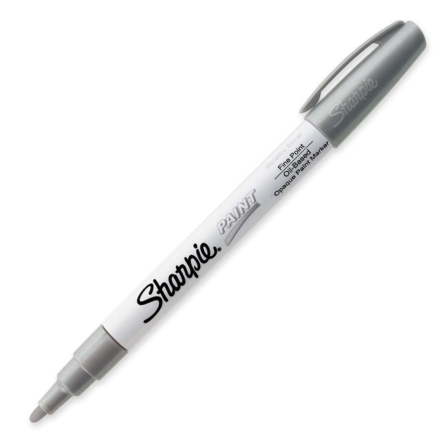Sharpie (35545) Paint Marker, Permanent Oil-Base Marker Fine, Silver Sold Individually.