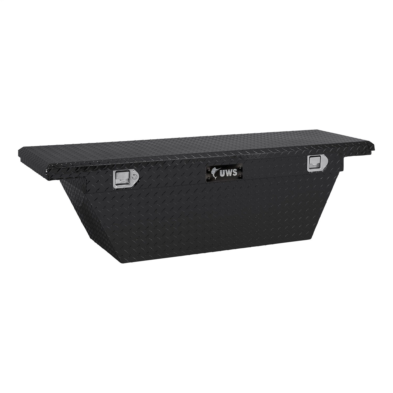 """UWS TBSD-60A-LP-BLK Black 60"""" Single Lid Deep Angled Low Profile Crossover Tool Box with Beveled Insulated Lid"""