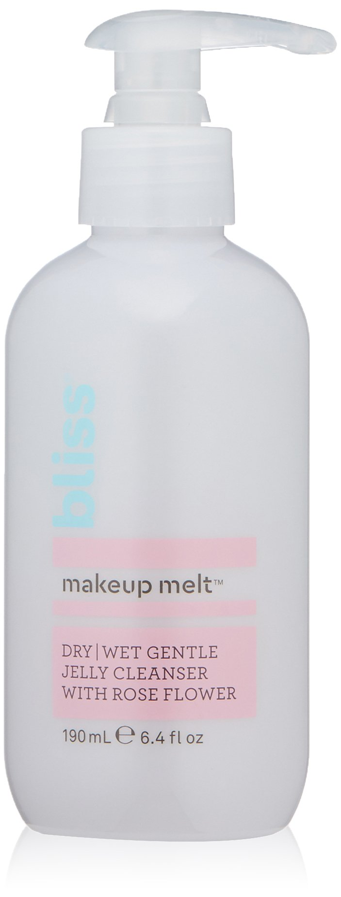 Bliss Makeup Melt Jelly Cleanser   Suitable on Dry/Wet Skin   Super-Gentle with Soothing Rose Flower    Paraben Free, Cruelty Free   6.4 fl oz
