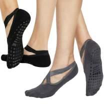 Yoga Socks for Women Non Skid Socks with Grips Barre Socks Pilates Socks for Women