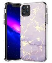 SPEVERT iPhone 11 Pro Max Case 6.5 inches, Marble Pattern Hybrid Hard Back Soft TPU Raised Edge Ultra-Thin Shock Absorption Slim Case Compatible for iPhone 11 Pro Max 6.5 inch 2019 Released - Purple