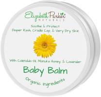Organic Calendula Baby Healing Balm - Relief Cream with Manuka Honey, Lavender and Coconut Oil - Diaper Rash, Cradle Cap, Eczema and Itchy Dry Skin Care Ointment - Natural Baby Moisturizer (2oz)