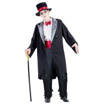 Charm Rainbow Men's Zombie Groom Costume Corpse Groom Suit for Halloween Party