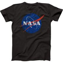 Trunk Candy Mens NASA Space Program Distressed Meatball Premium Cotton T-Shirt