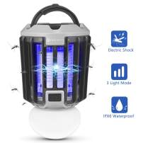 YUNLIGHTS Bug Zapper Light, 2 in 1 Portable LED Mosquito Killer Lamp USB Rechargeable Killer Lights, IPX6 Waterproof Mosquito Zapper Indoor & Outdoor for Patio, Porch, Home, Camping, Hiking, Tent