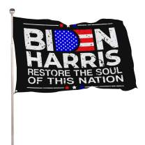 Restore The Soul of This Nation Biden Harris 2020 Democrat Flag 4X6ft Colorfast Uv Resistant 100% Polyester Durable Outdoors Flag