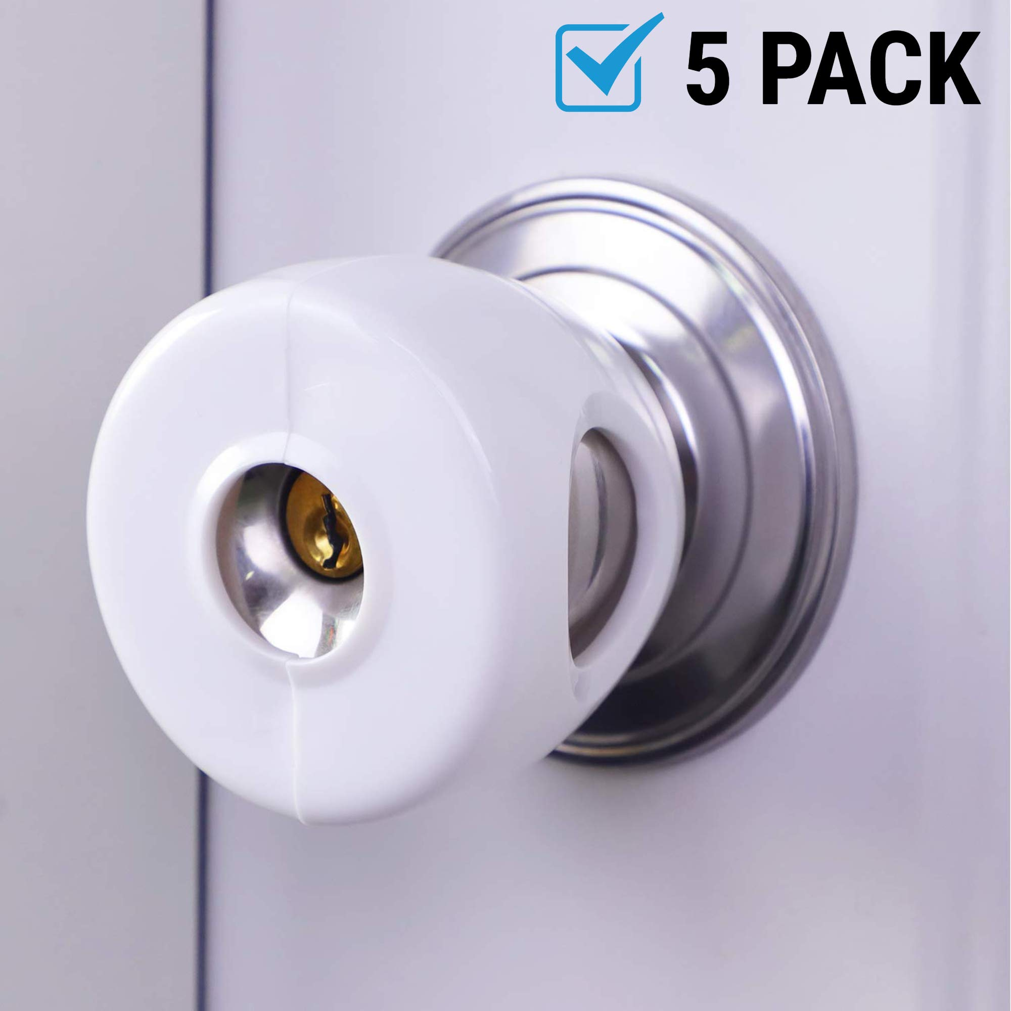 Door Knob Covers | 5 Pack - Child Safety Cover | Child Proof Doors by ClipGrip