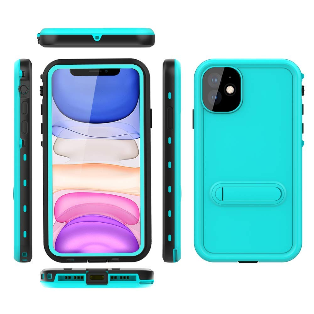 """iPhone 11 Case,Waterproof Full Body Support Wireless Charging Rugged Shockproof Dropproof IP68 Certified Waterproof Cover for iPhone 11(6.1"""",2019) (SS-Blue)"""